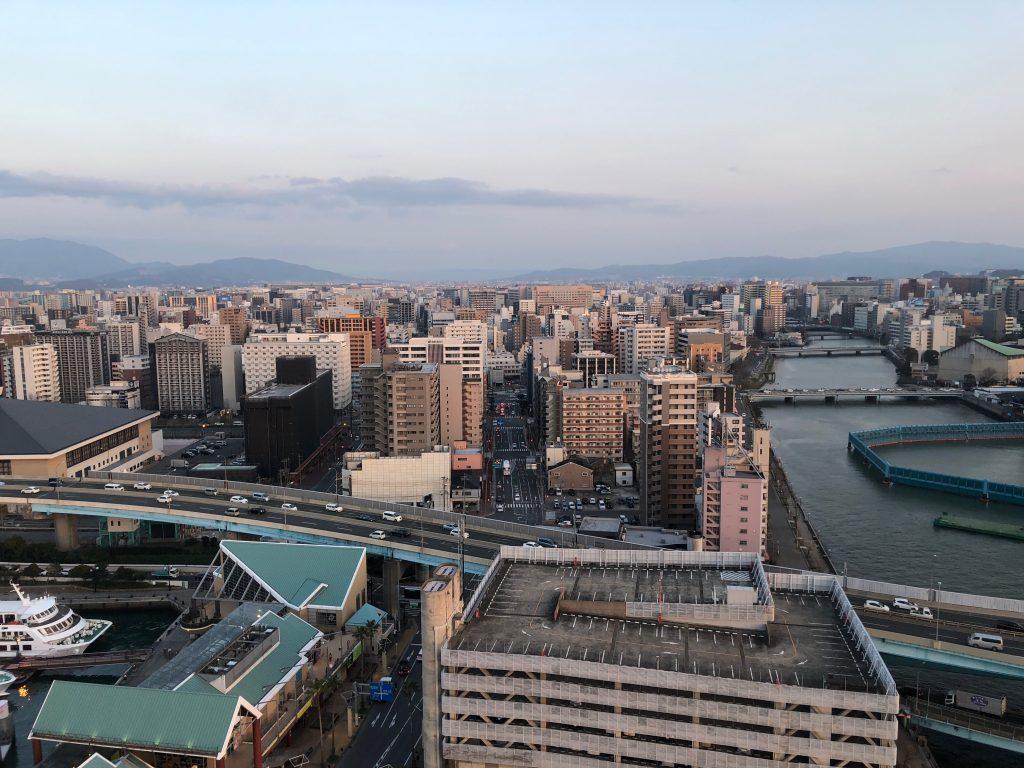 Hakata Port Tower view