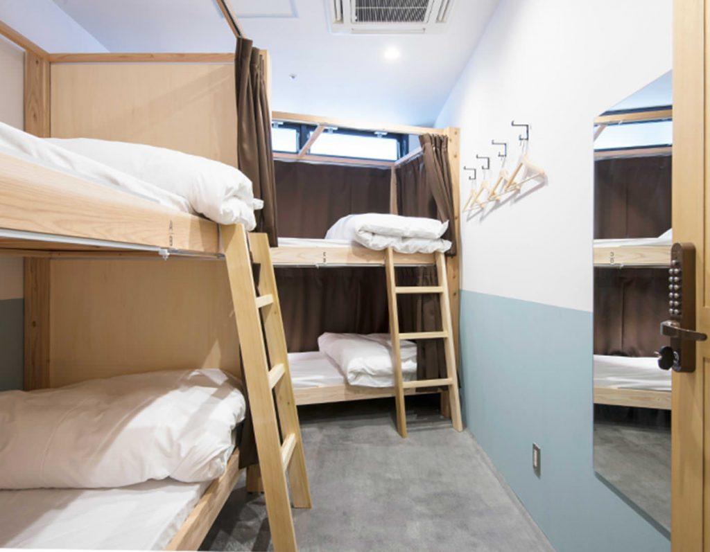 Dorm room at The Life Hostel