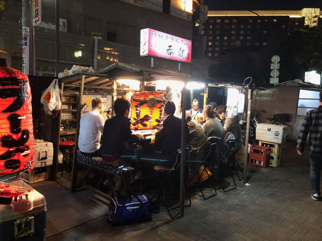 Yatai Street Food Stalls at Nakasu Island