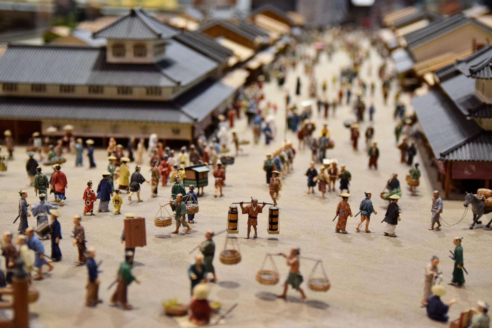 Miniature model at Edo-Tokyo Museum