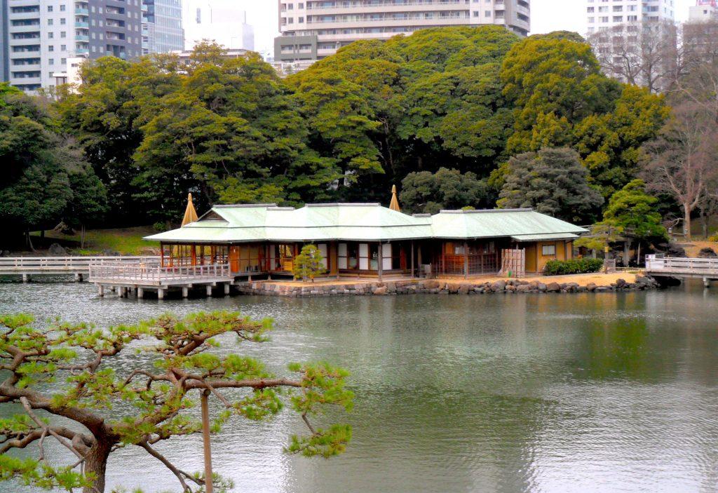 Tea House at Hamarikyu Gardens