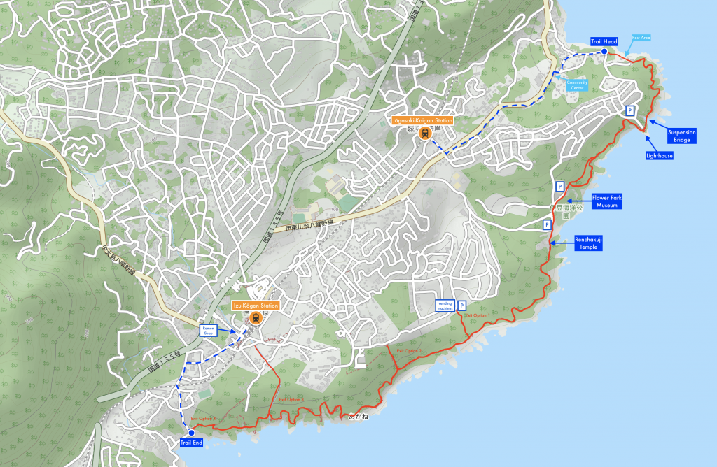 Jogasaki Coast Hiking Map