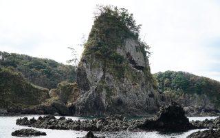 Noto Kongo Coast, rugged coast landscape