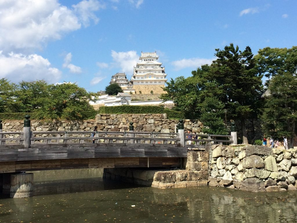 Himeji Castle seen from the first moat