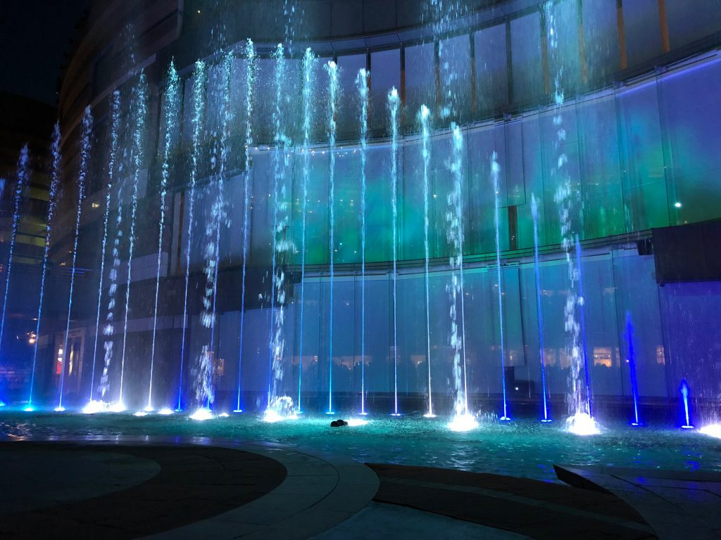Water show at Canal City Hakata