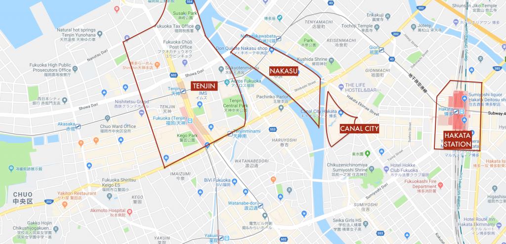 Centra Fukuoka Map