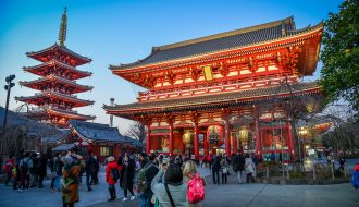 Senso-ji Temple, Asakusa. Licensed under CC. Credit: James Faulkner