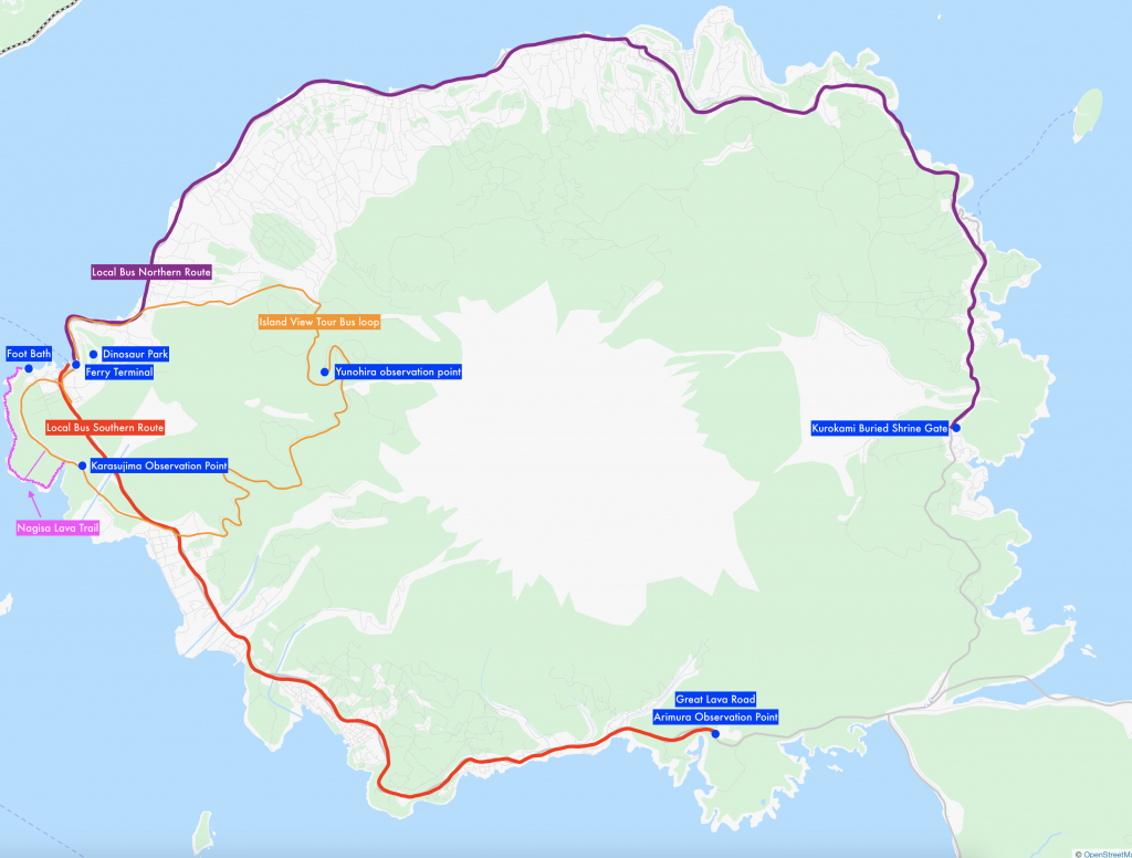 Tourist Map of Sakurajima