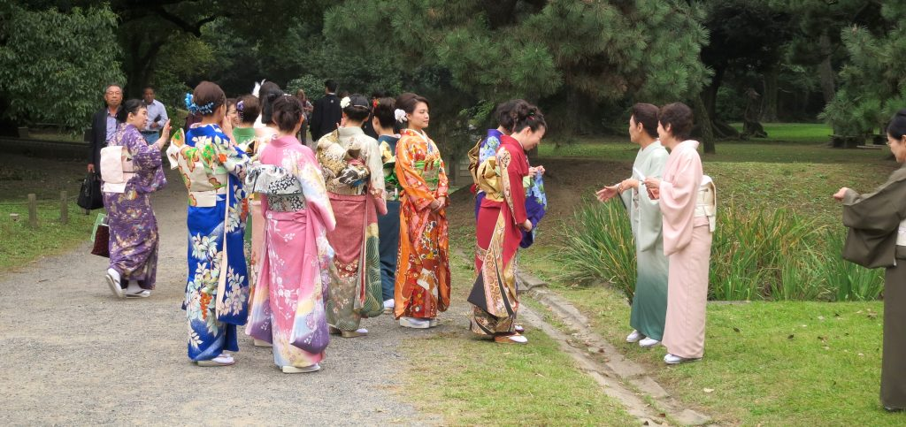 Ladies in kimonos at Tokyo Grand Tea Ceremony