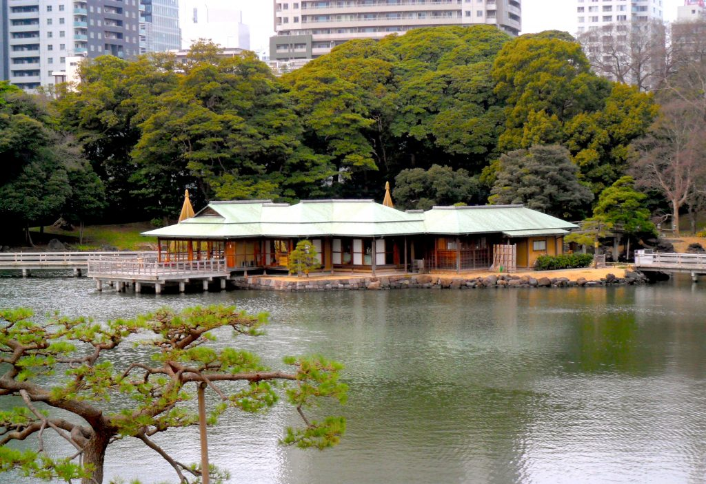 Tea House at Hamarikyu Gardens