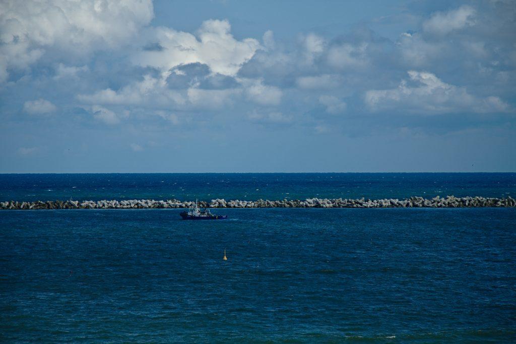 Wajima kiriko art museum ocean view