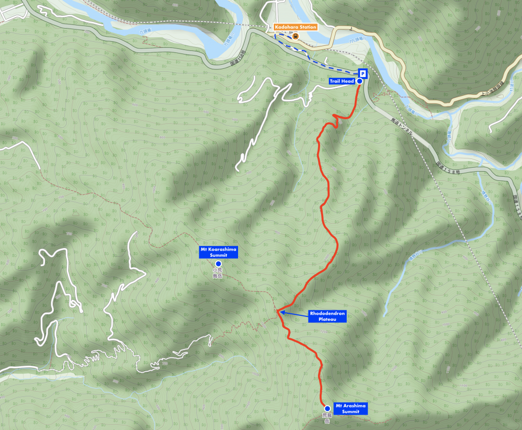 Mt. Arashima Hiking Map, Fukui Prefecture