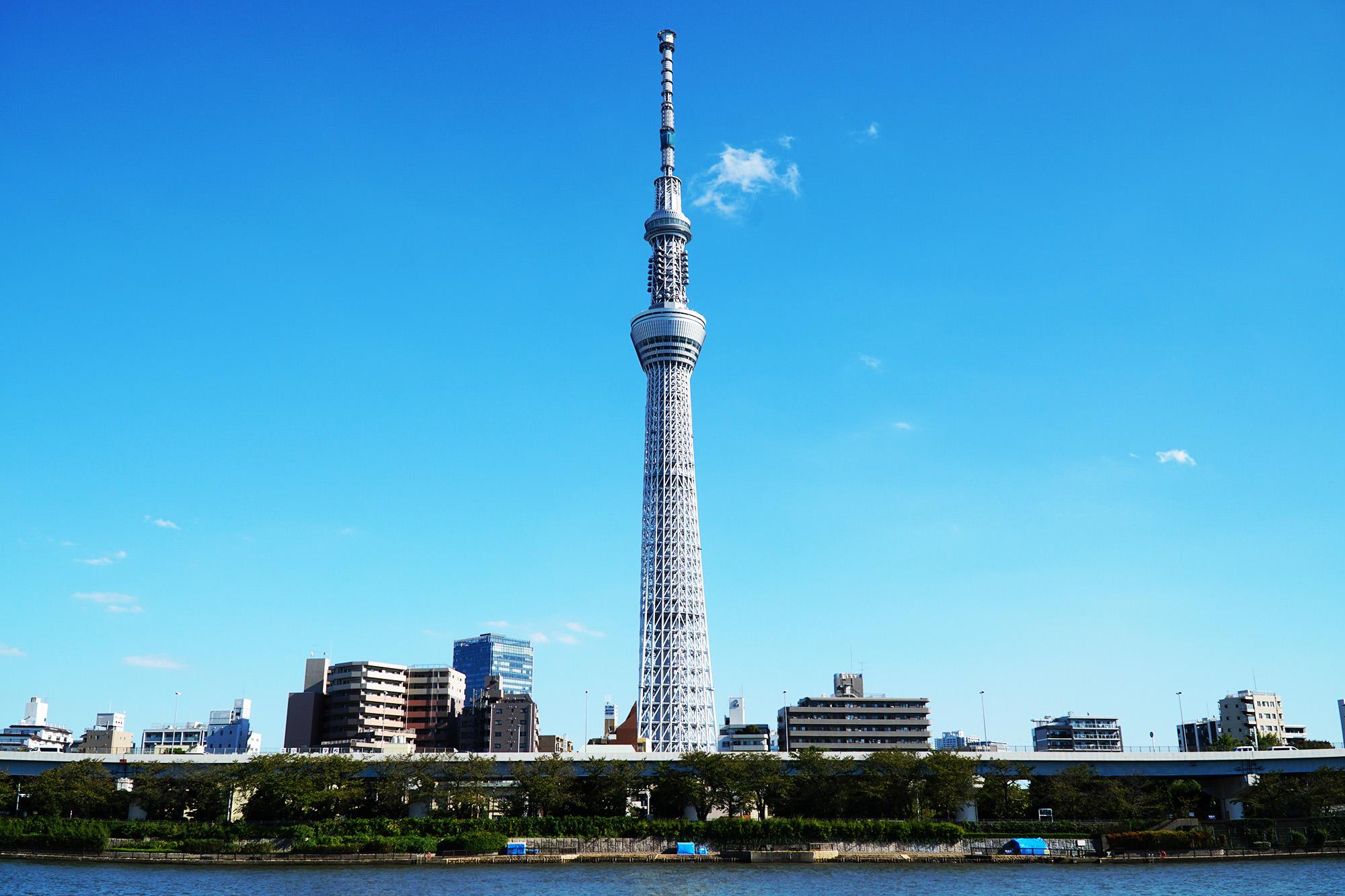 View of Tokyo Skytree from Sumida Park, Asakusa, Tokyo