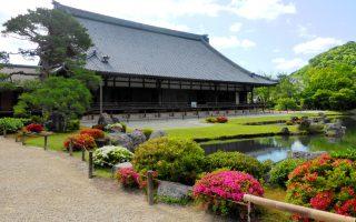 Tenryu-ji temple at Arashiyama, Kyoto.