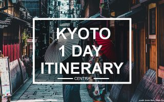 Kyoto 1 Day Itinerary (central)