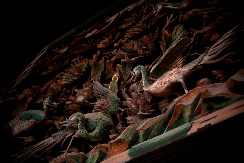 Woord carvings at Nijo Castle. Credit: Thomas Cuelho. Licensed under CC.
