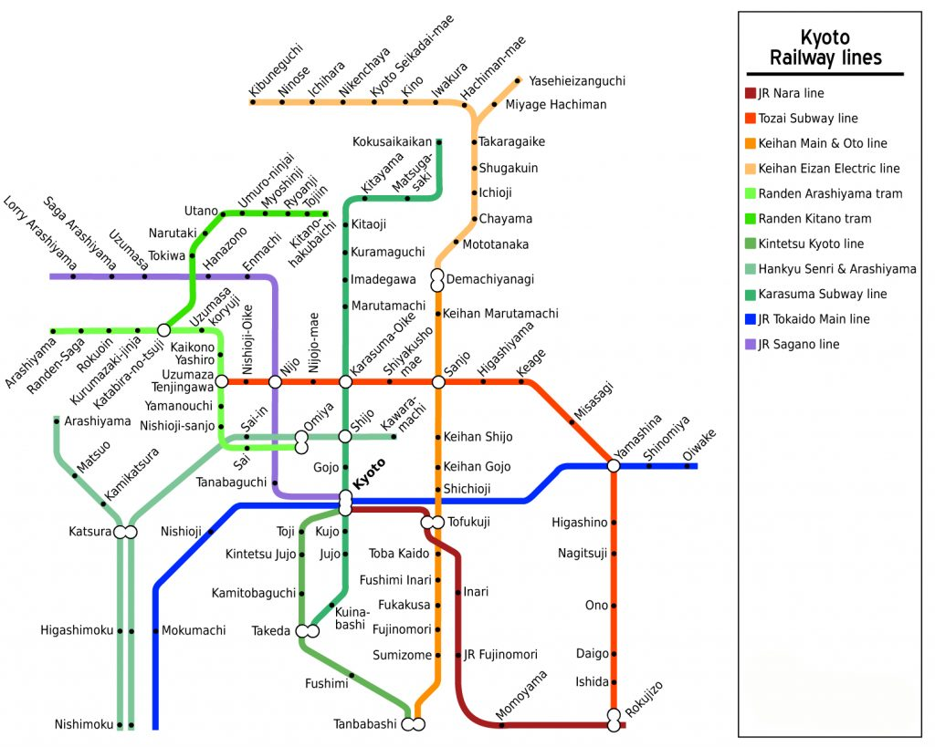 Kyoto Railway Map. Credit: Stefan Ertmann. Licensed under CC-SA 2.0.