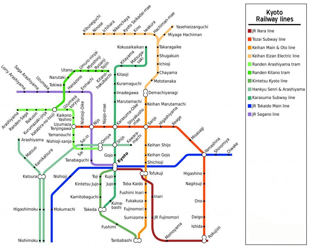 Kyoto Railway Map. Credit: Stefan Ertmann. Licensed under CC-SA 2.0.
