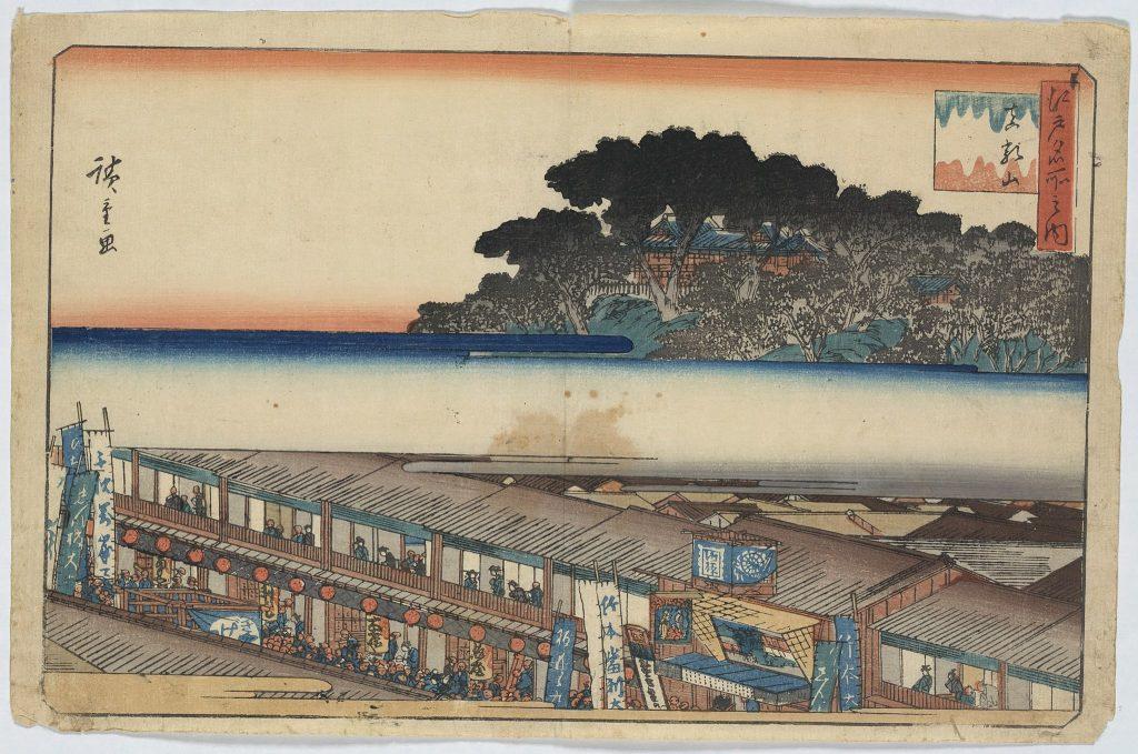 Matsuchiyama Shotel, Andō, Hiroshige, 1797-1858, artist [Public domain]