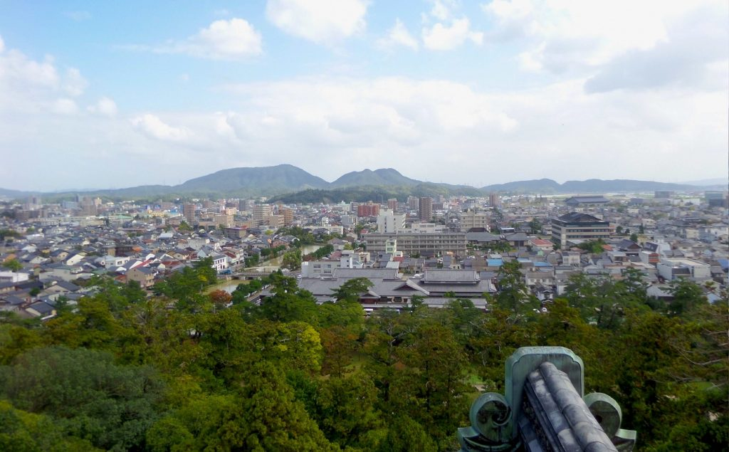 View from Matsue castle. © Andrew Endersby.