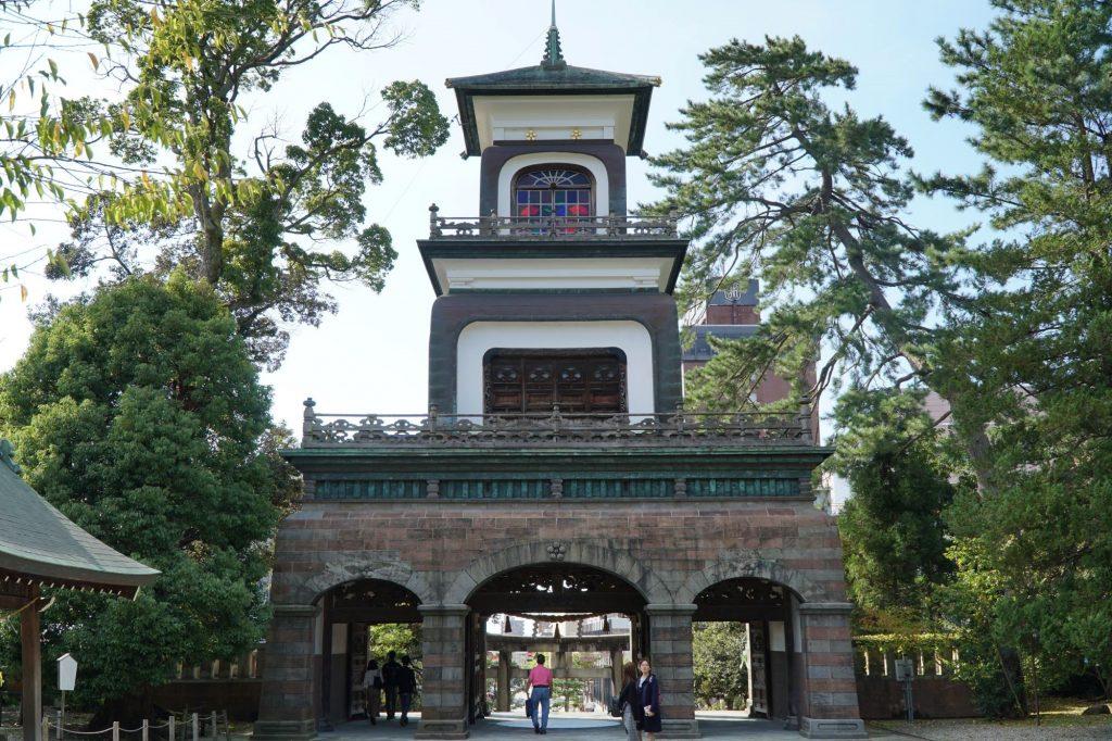 Main gate at Oyama Shrine, Kanazawa © touristinajapan.com.