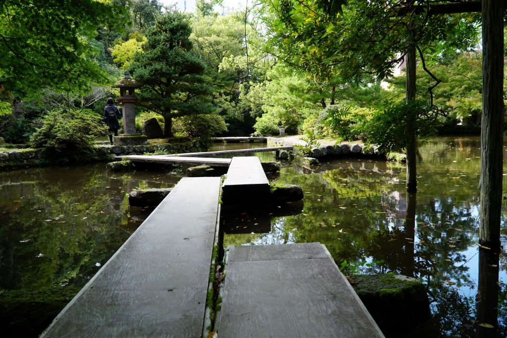 Garden path at Oyama Shrine, Kanazawa © touristinajapan.com.