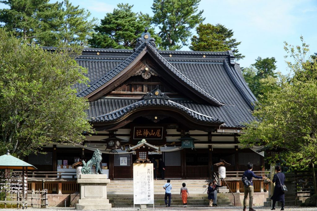 Main building at Oyama Shrine, Kanazawa © touristinajapan.com.