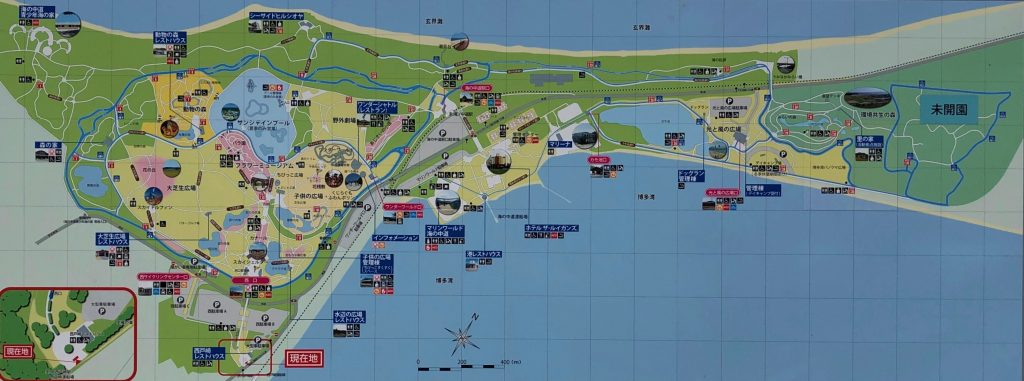 Umi no Nakamichi Seaside Park Tourist Map