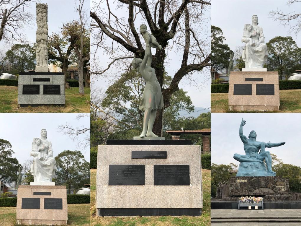 Statues at Nagasaki Peace Park. © touristinjapan.com