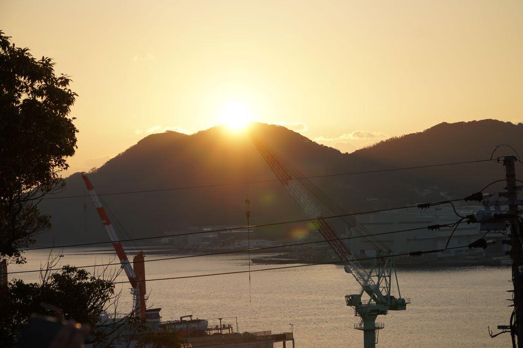 Sunset seen from Glover Garden, Nagasaki. © touristinjapan.com