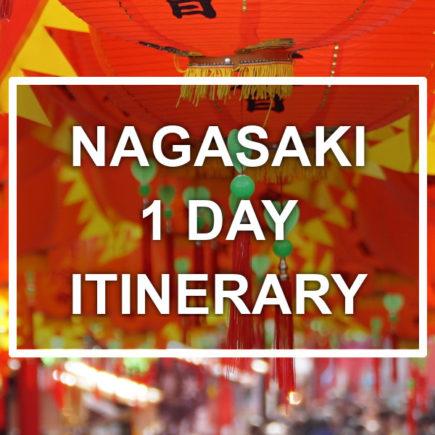Nagasaki 1 day itinerary. © touristinjapan.com