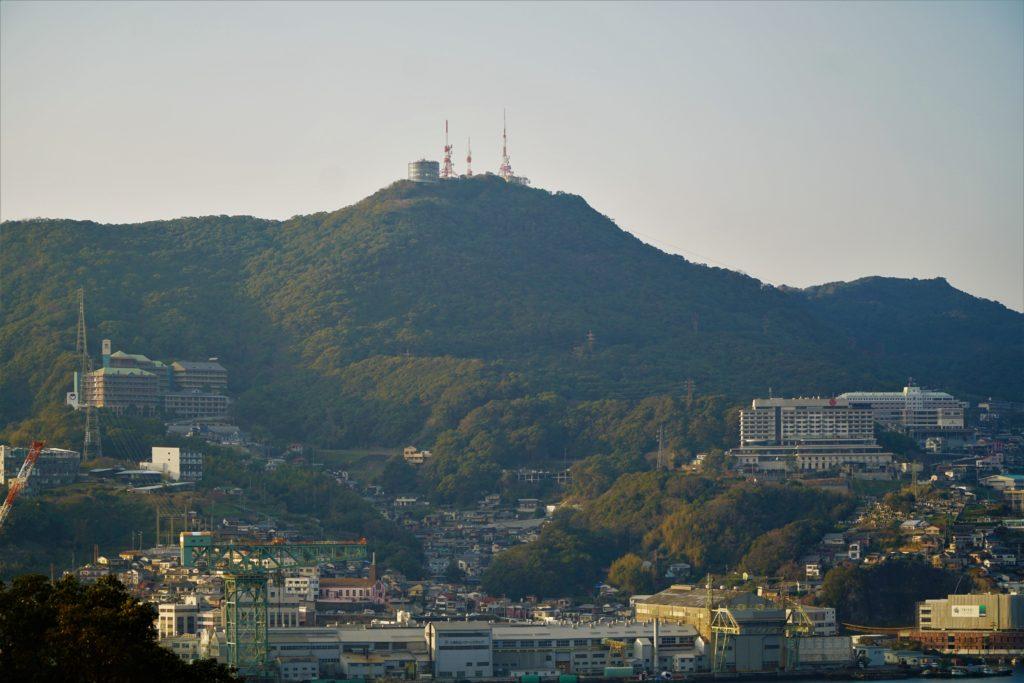 Mount Inasa seen from a distance, Nagasaki. © touristinjapan.com