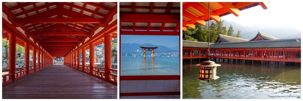 Views from Itsukushima Shrine on Miyajima. Photo credits (left to right): Bruno Holper, Floyd Manyano, Giovanni Boccardi.